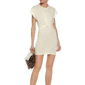 IRO Knotted Mélange Stretch-jersey Dress